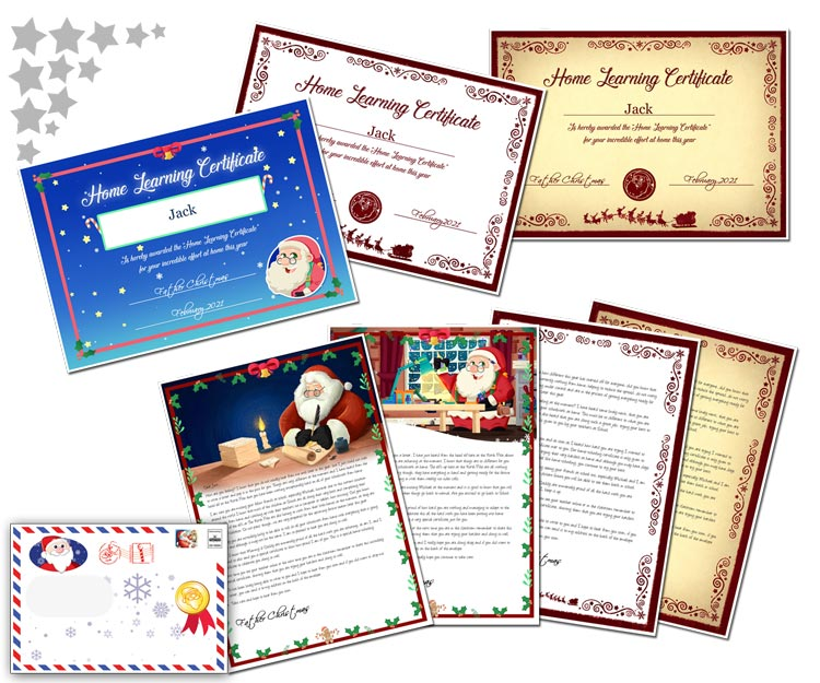 Personalised Home Schooling letter from Santa Claus