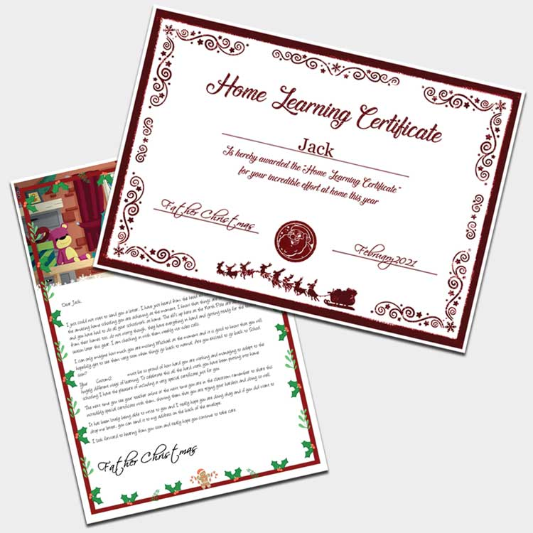 Home schooling letter and certificate
