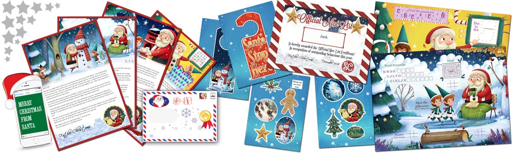 Santa letter direct personalised letters from santa claus personalised santa letter and activity pack personalised santa letter and activity pack spiritdancerdesigns Image collections