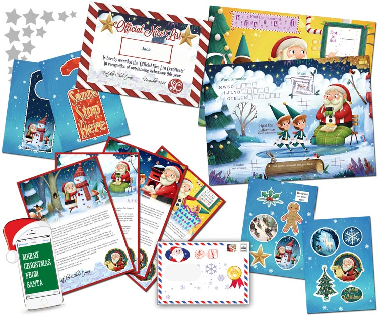 Santa letter direct personalised letters from santa claus personalised santa letter and activity pack spiritdancerdesigns Image collections