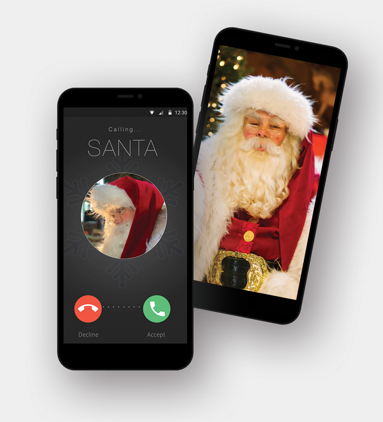 Personalised Video Call Messages from Santa Claus
