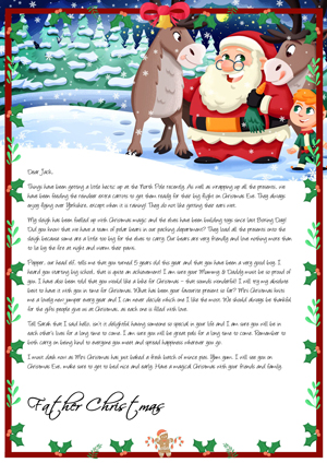 Extra Carrots for the Reindeers - Personalised Santa Letter Background