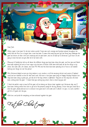 Santa Special COVID-19 Fundraising Letter - Personalised Santa Letter Background
