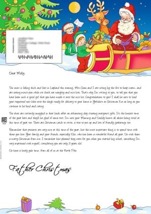 Santa - children and sleigh