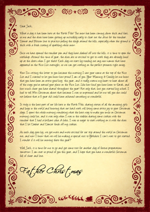 A day at The North Pole with Santa - Personalised Santa Letter Background