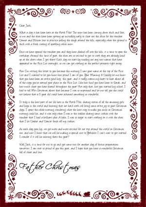 A day at The North Pole with Santa on white - Personalised Santa Letter Background