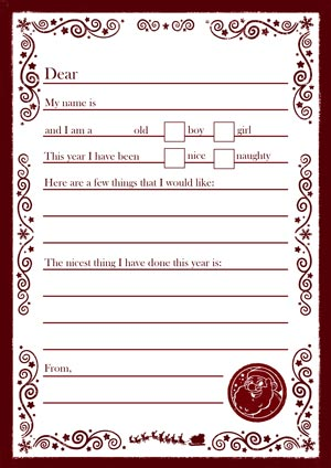 Letter To Santa - Simple - New For 2020