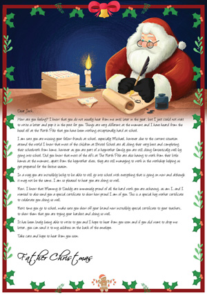 Key Worker - Santa Writing at desk