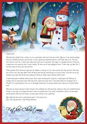 Santa, the snowman, the elves