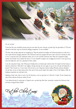 Elves sledging competition