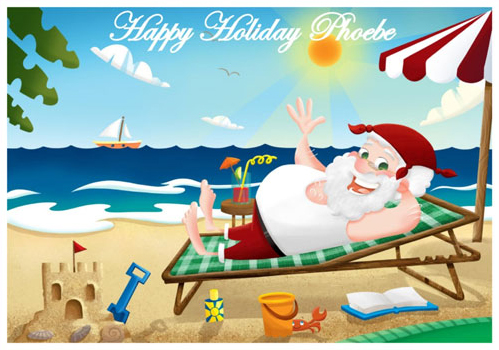 Santa Holiday Postcard - You are going on holiday