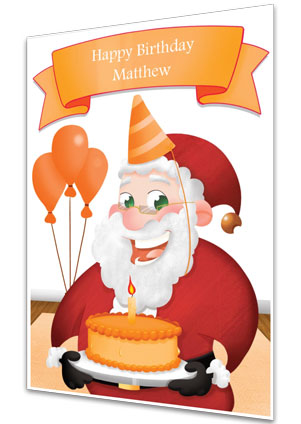 Birthday Card - Orange
