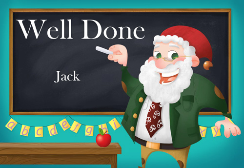 Well Done at School Postcard Background