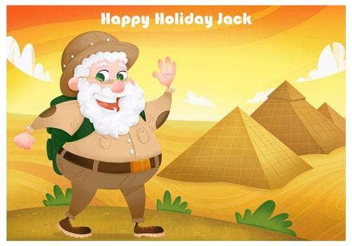Santa Holiday Pyramid Postcard - Been on holiday