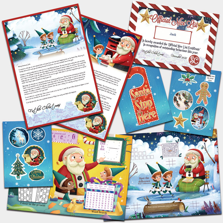 Personalised Christmas Eve Book From Santa Claus